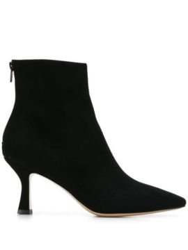 Snakeskin Detail Ankle Boots - Fabio Rusconi