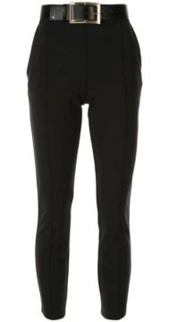 High-waisted Belted Trousers - Elisabetta Franchi