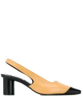 Contrast Toe Cap Pumps - Salondeju