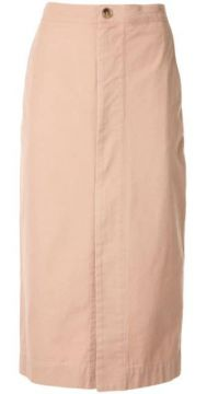 Zip Front Canvas Skirt - Bassike