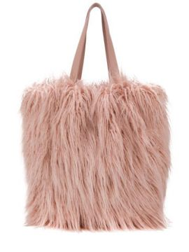Textured Furry Tote - Coccinelle