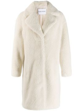 Camille Faux-shearling Coat - Stand