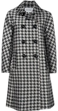 Double Breasted Houndstooth Coat - Dice Kayek