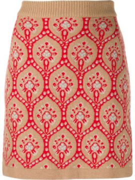 Knitted Patterned Skirt - Be Blumarine