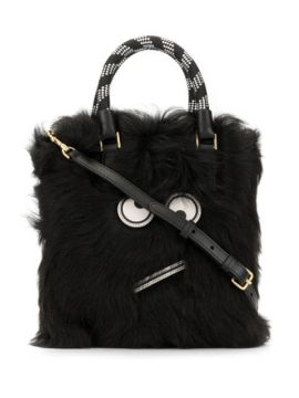Amused Face Fur Tote - Anya Hindmarch