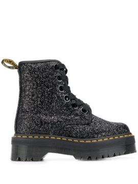 Molly Glitter Boots - Dr. Martens