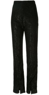 Textured High-waist Trousers - 16arlington