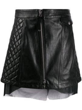 Quilted Leather Skirt - Diesel Black Gold