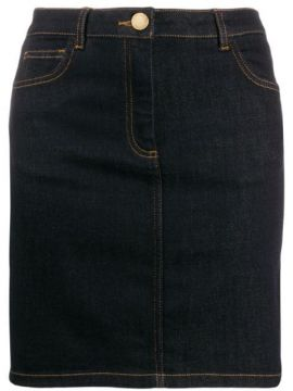 Fitted Denim Skirt - Boutique Moschino
