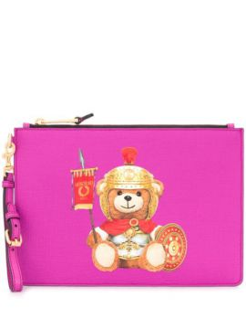 Teddy Bear Logo Clutch Bag - Moschino