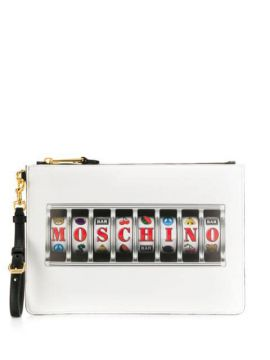 Printed Logo Clutch - Moschino