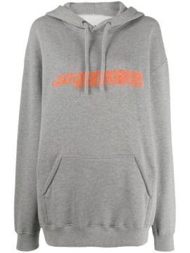 Oversized Embroidered Hoodie - Calvin Klein Jeans Est. 1978