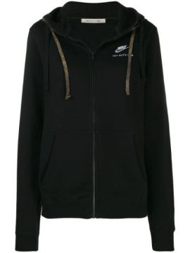 Embroidered Logo Hoodie - Alix