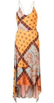 Asymmetric Paisley Print Dress - Esteban Cortazar