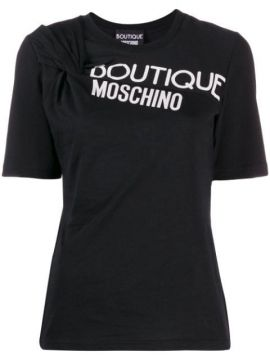 Twist Detail T-shirt - Boutique Moschino