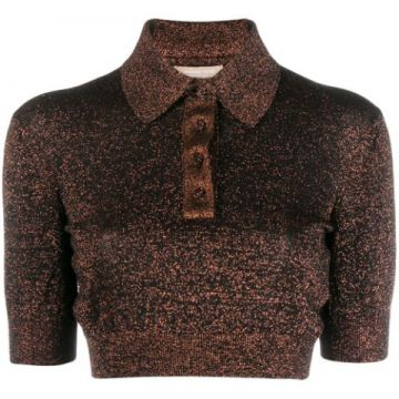 Glitter Detail Polo Shirt - Michael Kors Collection