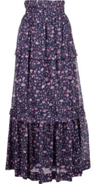 Tiered Floral Print Skirt - Etoile