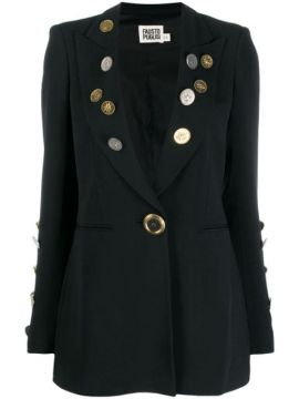 Coin Embellished Blazer - Fausto Puglisi
