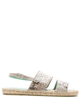 Flat Espadrille Python - Blue Bird Shoes