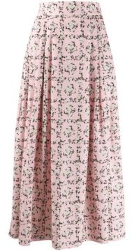 Square Rose Print Skirt - Emilia Wickstead