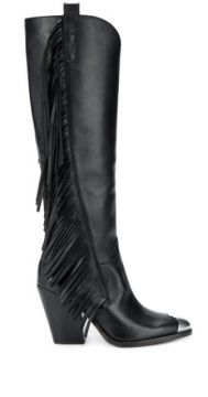 Elodie Fringed Boots - Ash