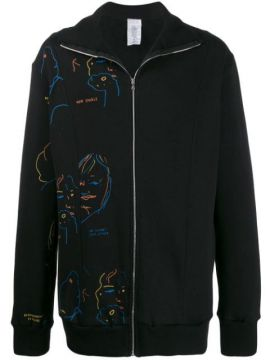 Printed Cotton Zip Up Jacket - Bethany Williams