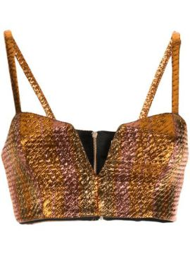 Metallic Cropped Top - Alice Mccall