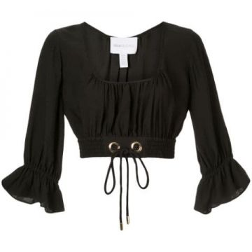 Gathered Cropped Blouse - Alice Mccall