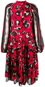 Flared Leopard Print Dress - Cavalli Class