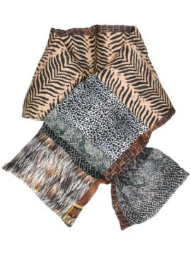 Quilted Animal Print Scarf - Pierre-louis Mascia