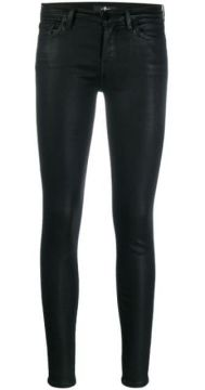 Low Rise Coated Skinny Trousers - 7 For All Mankind