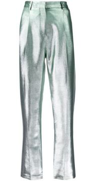 Metallic Effect Trousers - Indress