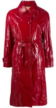 Textured Belted Coat - Drome