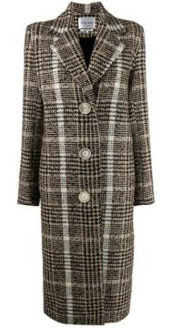 Checked Single-breasted Coat - Carmen March