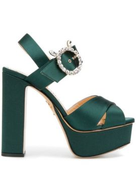Bejeweled Aristocrat Sandals - Charlotte Olympia