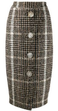 Checked Pencil Skirt - Carmen March