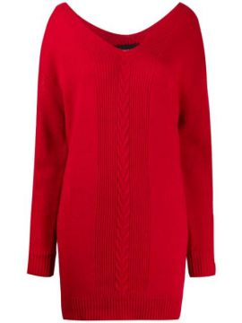 Intarsia Knitted Dress - Boutique Moschino