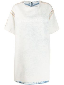 Bleached Denim T-shirt Dress - Mm6 Maison Margiela