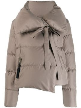 Wide Collar Puffer Jacket - Bacon