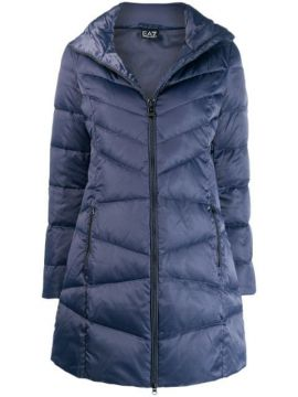 Quilted Fitted Coat - Ea7 Emporio Armani