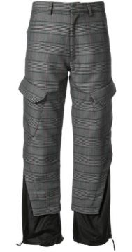 Panelled Checked Trousers - Delada
