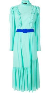 Belted Ruffle-trimmed Dress - Anna October
