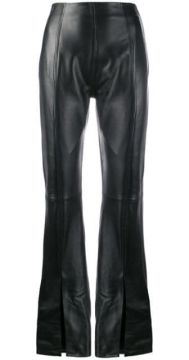Flared Leather Trousers - 16arlington