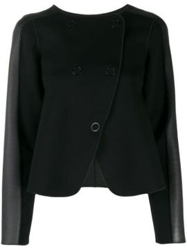 Panelled Double-breasted Coat - Emporio Armani