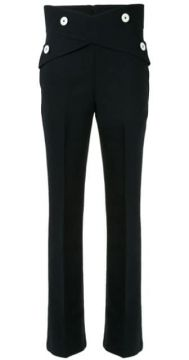 Button-embellished Flared Trousers - Comme Moi