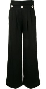 Button-embellished Trousers - Comme Moi