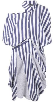 Striped Patchwork Dress - Dawei