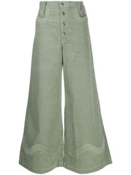 Wide Leg Corduroy Trousers - House Of Sunny