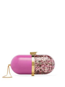 Pink Pill Glitter Clutch Bag - Marzook