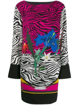Floral Animal Print Dress - Cavalli Class
